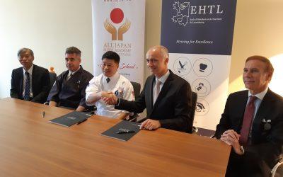 Accord de coopération avec la All Japan Sushi Academy Japanese Cuisine