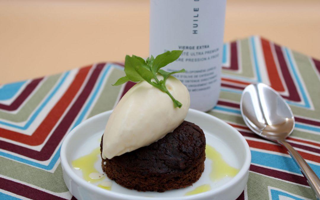 Crème glacée à l'huile d'olive